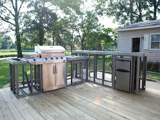 Outdoor Kitchen Construction Plans DIY Cooking Area Perfect