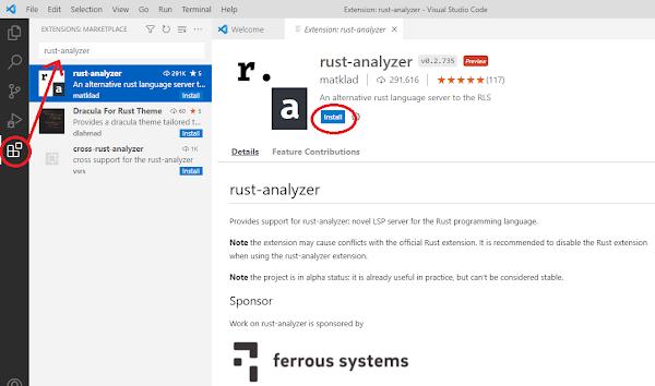 Rust VS Code extension rust-analyzer