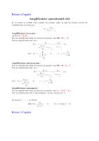 Cours Sur L'Amplificateur Operationnel Reel Electronique General.pdf