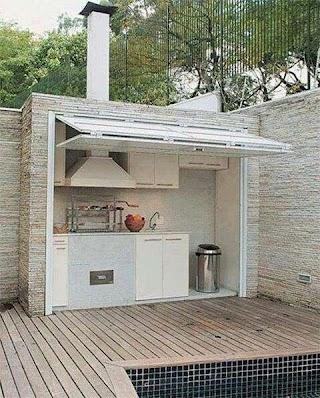 Compact Outdoor Kitchen Sbars Design