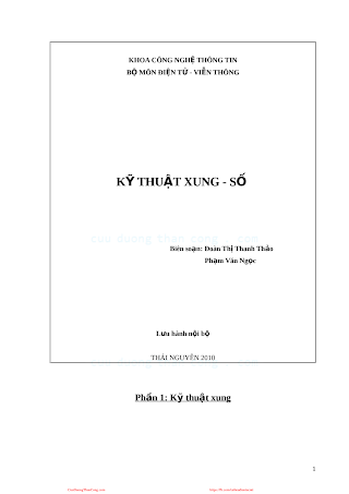 ĐHTN.Kỹ Thuật Xung Số - Đoàn Thị Thanh Thảo & Phạm Văn Ngọc, 219 Trang.pdf
