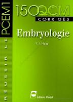 150 QCM corrigés en Embryologie.pdf