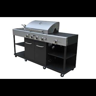 Bunnings Outdoor Bbq Kitchens Jumbuck 4 Burner Stardom Kitchen at Warehouse