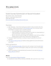 Cook County Commission on Social Innovation