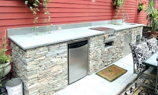 Outdoor Kitchen Island Frame Kit Bar S and Photo Gallery