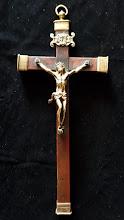 Crucifix catolic din bronz dore