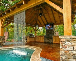 Outdoor Kitchen and Pool S Mid State S