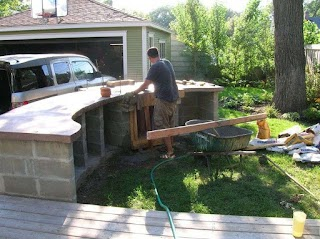 Diy Cinder Block Outdoor Kitchen S Table Spectacular Prebuilt