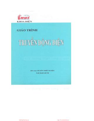 ĐHCN.Giáo Trình Truyền Động Điện - Nhiều Tác Giả, 151 Trang.pdf