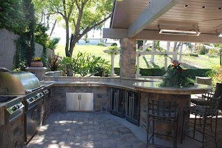 Outdoor Kitchen with Bar 37 Ideas Designs Picture Gallery Designing Idea