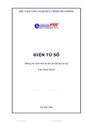 BCVT.Điện Tử Số - Ths. Trần Thị Thúy Hà, 246 Trang.pdf
