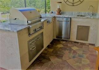 Tile Outdoor Kitchen S Hl Posey Builders Custom Builder