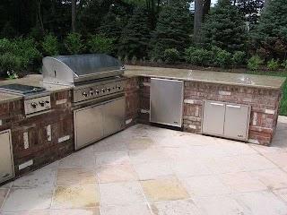 Outdoor Kitchens NJ   Built in Grill Designs Brick Kitchen Design Bergen