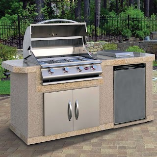 Gas Grill Outdoor Kitchen Cal Flame 84 3piece 4burner Prefab Island Wayfair