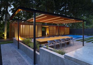 Pool House with Outdoor Kitchen a Was Designed to Contain a Shower and Change Room For