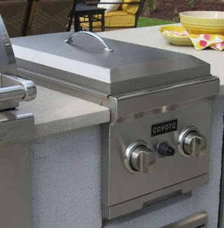Outdoor Kitchen Deep Fryer Built in Coyote Propane Gas Double Side Burner Affordable