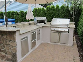 Masters Outdoor Kitchen Backyard Carries Twin Eagle Barbecue