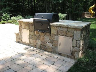 Outdoor Kitchen Charcoal Grill The Thrill of Yard Ideas Blog Yardshare Com for Built In