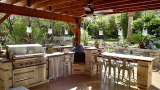 Outdoor Kitchen Show Builder Near Me Austin Decks Pergolas Covered