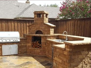 Outdoor Kitchen with Pizza Oven S S Poughkeepsie Ny Fairview Hearthside