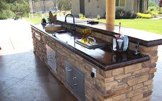 Concrete Countertops for Outdoor Kitchen Countertop Custom Image Hardscape