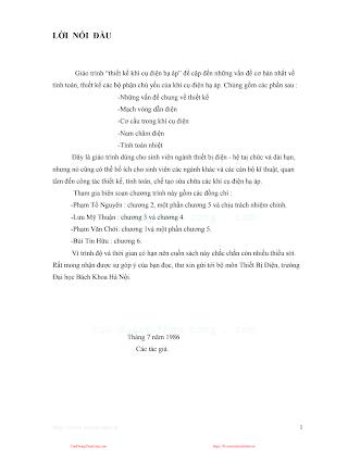 Giáo Trình Thiết Kế Khí Cụ Điện Hạ Áp - Phạm Tố Nguyên, 299 Trang.pdf