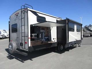 Travel Trailer with Outdoor Kitchen 2019 Keystone Laredo 332bh Rear Bunk Sale at Best