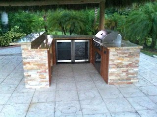 U Shaped Outdoor Kitchen Cstom Otdoor Gas Grills Parts Fireplaces And