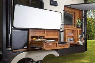 Fifth Wheel Campers with Outdoor Kitchen Brilliant Finished Wood Rv
