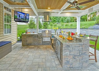 Custom Outdoor Kitchen Designs Living Space Designers Delaware Living