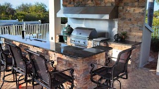 Premier Outdoor Kitchens Impressive Grills with Big Green Egg