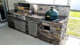 Outdoor Kitchen with Green Egg Big Creative S of Florida