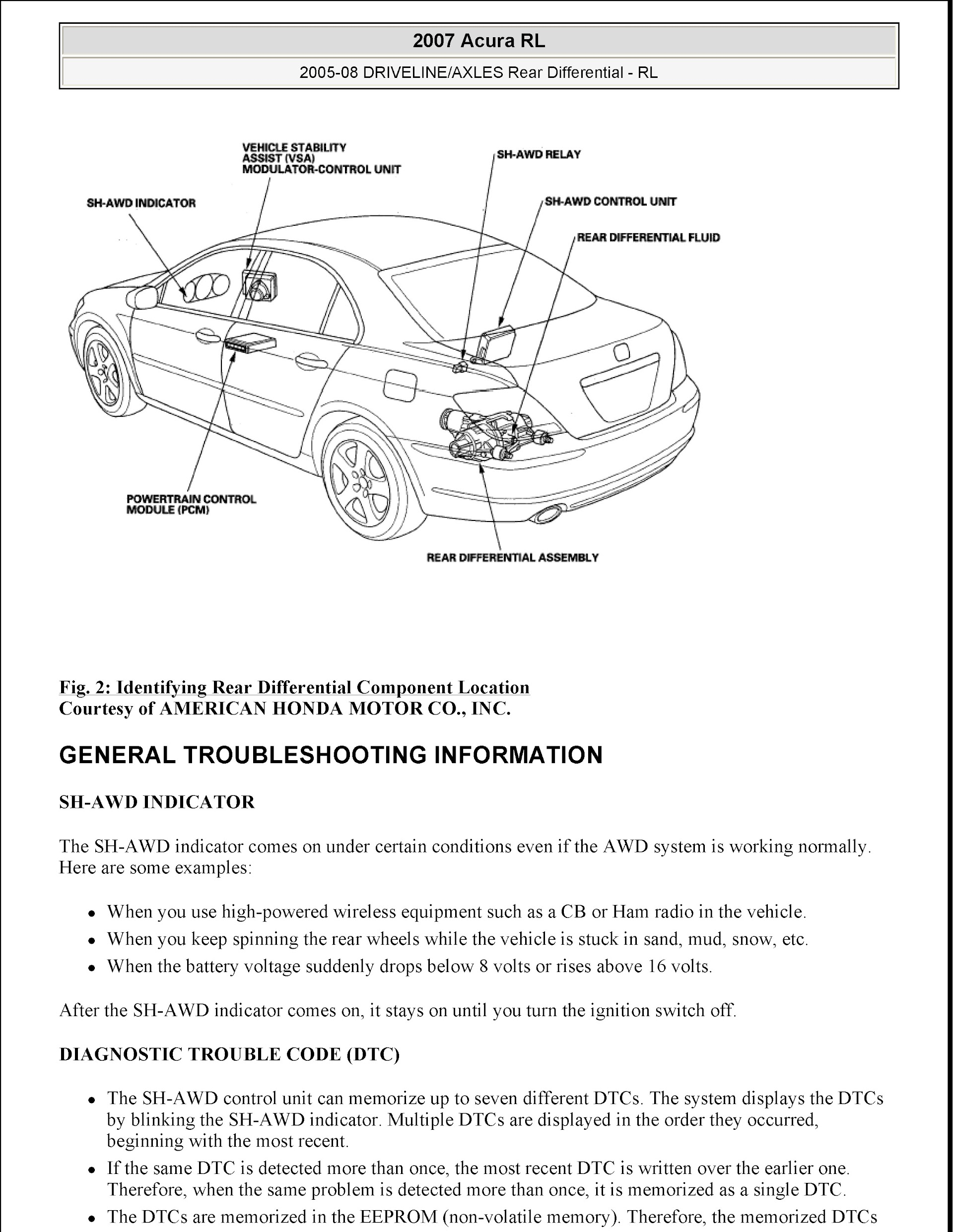 Download 2005-2008 Acura RL Service Repair Manual
