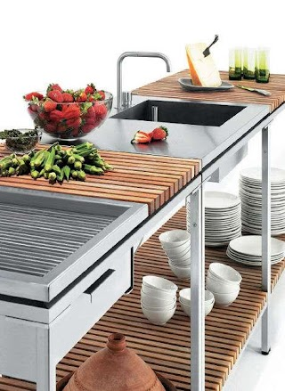 Outdoor Kitchen Units From Viteo S a Modular Patio