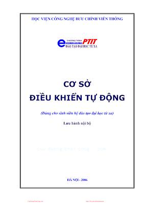 BCVT.Cơ Sở Điều Khiển Tự Động - Ths. Đặng Hoài Bắc, 152 Trang.pdf