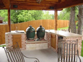 Big Green Egg Outdoor Kitchen Plans Design with Head Forum