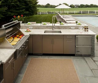 Stainless Outdoor Kitchens Danver Steel Cabinets Affordable