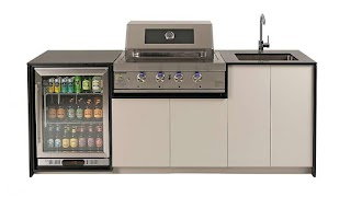 Cheap Outdoor Kitchen Bbq Buy Riverina Bambino with Hooded Harvey Norman Au
