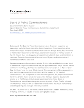 Board of Police Commissioners