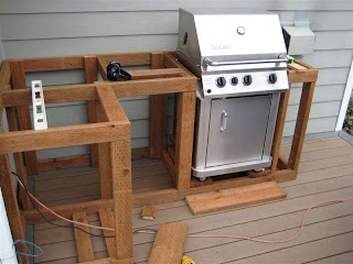 How to Frame an Outdoor Kitchen Build Cabinets