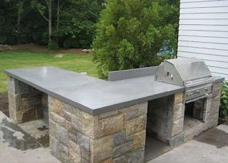 Outdoor Kitchen Concrete Countertops I Was Thinking These Would Be Cool in The