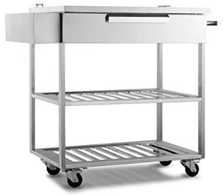 Outdoor Kitchen Storage Cart Amazoncom New Age 65007 Stainless Steel