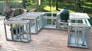 Steel Outdoor Kitchen Frames Build Frame Framing for Metal Barbeque Islands
