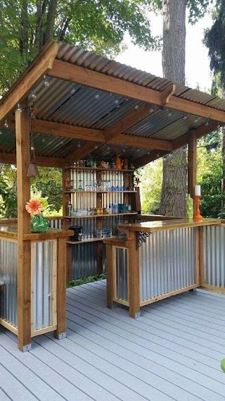 Primitive Outdoor Kitchen Backyard Bar Ideas Backyard Patio