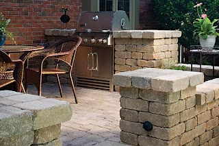 Block Outdoor Kitchen Concrete Design and Idea Gallery
