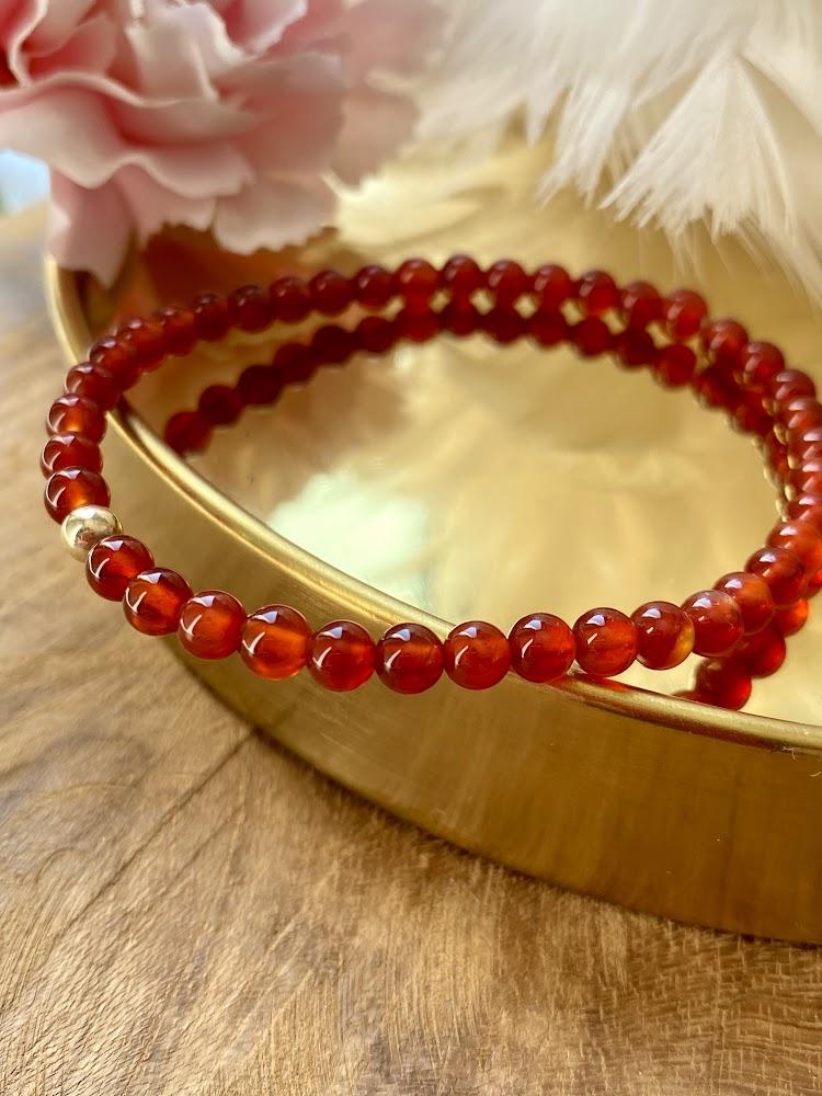 """Bracelet """"Minimaliste"""" en Cornaline"""