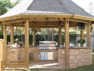 Outdoor Kitchen Gazebo Attractive Inspirations and Chandelier Ideas