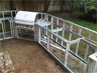 Build Outdoor Kitchen Frame Casanovainterior Backyard