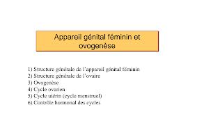 Appareil génital féminin et Ovogénese.pdf