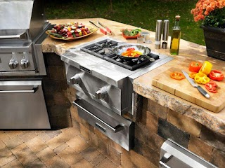 Outdoor Kitchen Gas Oven Appliances Hgtv